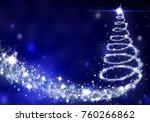 christmas tree lights formed... | Shutterstock . vector #760266862