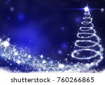christmas tree lights formed... | Shutterstock . vector #760266865