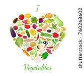 vegetables set  logo  label... | Shutterstock . vector #760268602