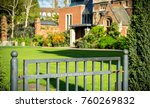 close of gate with collage...   Shutterstock . vector #760269832
