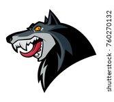 wolf head mascot   Shutterstock .eps vector #760270132