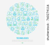technologies concept in circle... | Shutterstock .eps vector #760274116