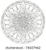 mandala drawing | Shutterstock . vector #76027462