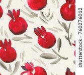 seamless watercolor pattern on... | Shutterstock . vector #760276012