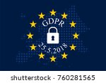 general data protection... | Shutterstock .eps vector #760281565