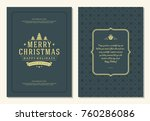christmas greeting card design... | Shutterstock .eps vector #760286086