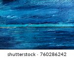 fragment of a blue wooden fence | Shutterstock . vector #760286242