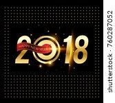 vector 2018 happy new year... | Shutterstock .eps vector #760287052