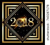 vector 2018 happy new year...   Shutterstock .eps vector #760287178