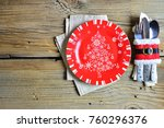 christmas and new year's... | Shutterstock . vector #760296376
