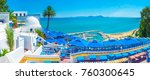 sidi bou said is the scenic... | Shutterstock . vector #760300645