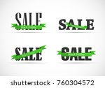 black friday sale calligraphy... | Shutterstock .eps vector #760304572