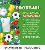football championship poster of ... | Shutterstock .eps vector #760305892