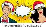 wow new year faces. handsome... | Shutterstock .eps vector #760311538