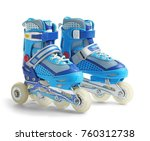 pair of roller skates  isolated ... | Shutterstock . vector #760312738