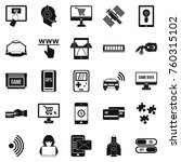 augmented reality icons set.... | Shutterstock .eps vector #760315102