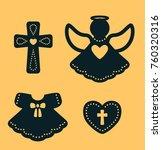 laser cutting template. baptism ... | Shutterstock .eps vector #760320316