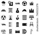 higher society icons set.... | Shutterstock .eps vector #760321378