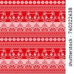 winter festive christmas... | Shutterstock .eps vector #760322638