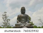 several buddha statues in a...   Shutterstock . vector #760325932