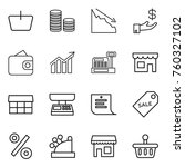 thin line icon set   basket ... | Shutterstock .eps vector #760327102