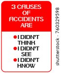 3 causes of accidents are i... | Shutterstock .eps vector #760329598