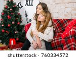 mom and daughter are happy...   Shutterstock . vector #760334572