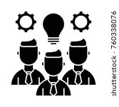 team skills vector icon | Shutterstock .eps vector #760338076