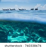 coral reef shallow | Shutterstock . vector #760338676