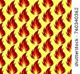 fire symbols seamless pattern... | Shutterstock . vector #760340362