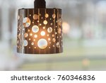 Hanging Metal Lamp With Holes ...