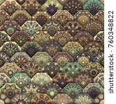 colorful vintage seamless... | Shutterstock .eps vector #760348822