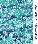 bleach paisley pattern ... | Shutterstock . vector #760350955