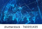 a multifaceted 3d illustration... | Shutterstock . vector #760351435