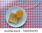 breakfast top view  topview of... | Shutterstock . vector #760354192
