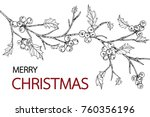 merry christmas background.  | Shutterstock .eps vector #760356196