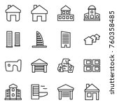 thin line icon set   home ...   Shutterstock .eps vector #760358485