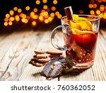 hot spicy christmas gluhwein ... | Shutterstock . vector #760362052