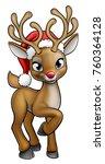 A Christmas Reindeer Cartoon...