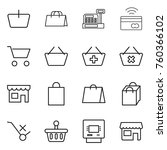 thin line icon set   basket ... | Shutterstock .eps vector #760366102