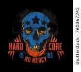 hard core skull vector art. ... | Shutterstock .eps vector #760367242