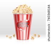cinema food popcorn in... | Shutterstock .eps vector #760368166
