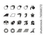 steel pipe and roll steel metal ... | Shutterstock .eps vector #760368172