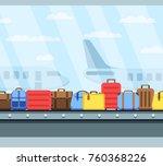 airport conveyor belt with...   Shutterstock .eps vector #760368226