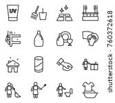 thin line icon set   uv cream ...   Shutterstock .eps vector #760372618