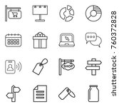 thin line icon set   shop...