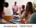 rear view of female college... | Shutterstock . vector #760375342