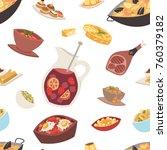 spain cuisine vector food...   Shutterstock .eps vector #760379182