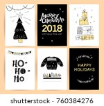 set of christmas  new year... | Shutterstock . vector #760384276