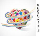 valentines vector 3d heart with ...   Shutterstock .eps vector #760385932